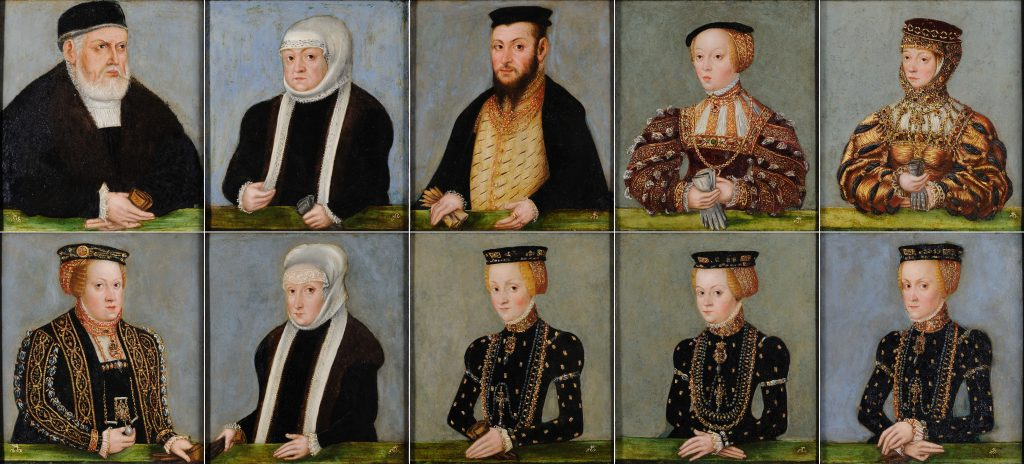 Miniature portraits of the Jagiellonian dynasty, Lucas Cranach the Younger, 1555/1556