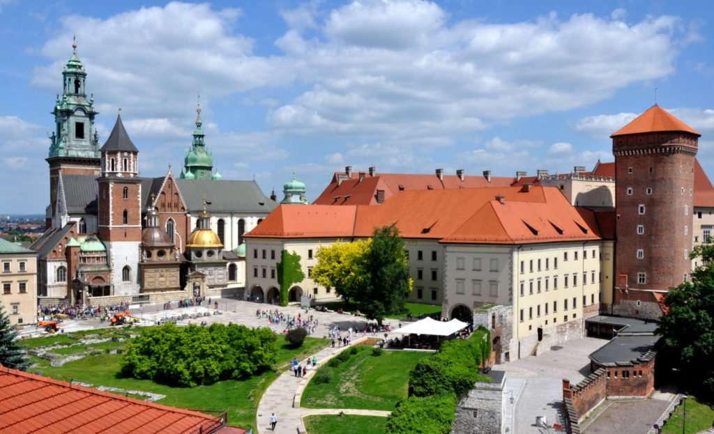 Wawel Castle Krakow, view on the Wawel Cathedral and Royal Kitchens
