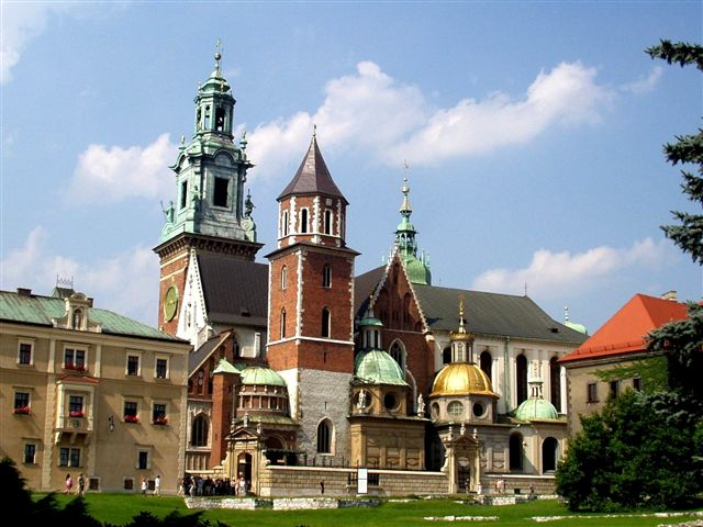 In the Wawel Cathedral, Wawel Castle history is hidden with various architecture styles and royal crypts