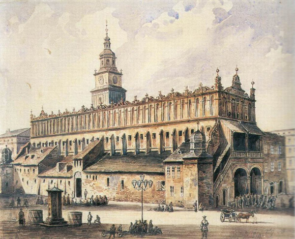 Painting of the Cloth Hall in the Renaissance