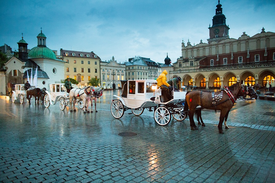 Fiacre of the Main Square in Krakow