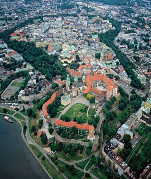 Ring of Planty surrounding the Old Town and the Wawel Hill