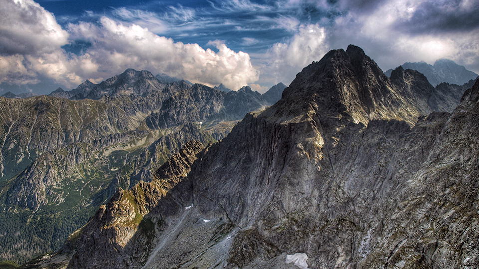The highest peak of Polish Mountains, Rysy