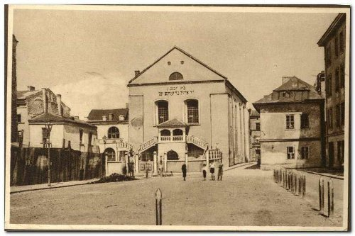 Izaak Synagoue in the Jewish Quarter Krakow, picture from circa 1935