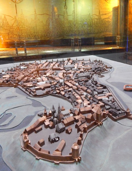 Model of how the Krakow Old Town looked in the Middle Ages