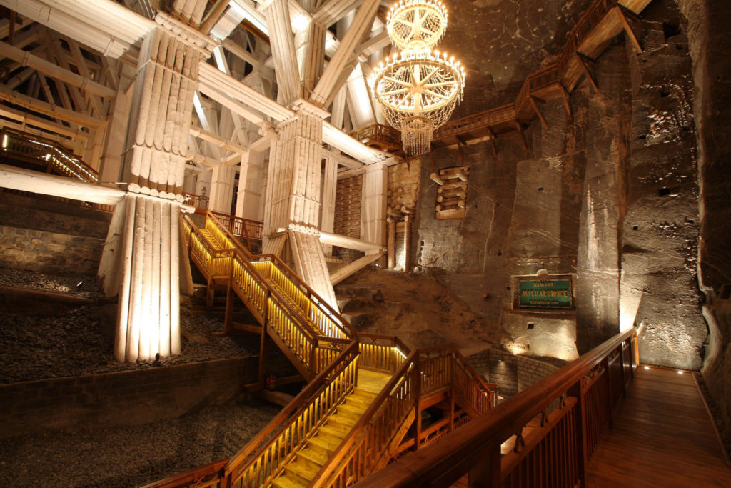 Underground staircases in the Salt Mine