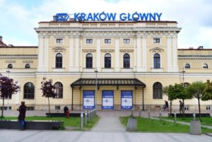 Old building of Krakow railway station