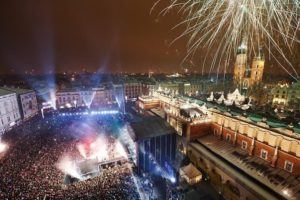 Krakow New Years Eve 2014 on the Main Market Square