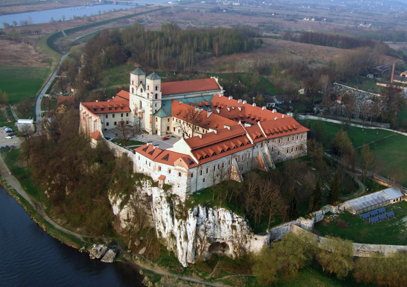 Bird's-eye view of the Benedictine Abbey, Tyniec