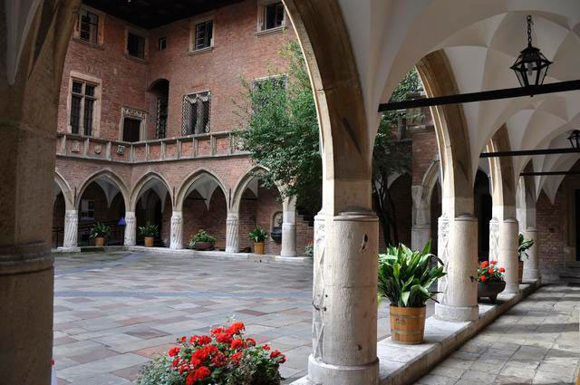 Arcaded courtyard of the Collegium Maius, Jagiellonian University