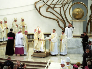 John Paul II during consecration of the Divine Mercy Sanctuary in Lagiewniki
