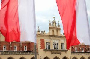 On national holidays in Poland, white-and-red flags can be seen everywhere