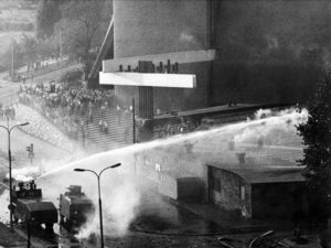 1980's mass demonstrations near The Arc of Lord Church