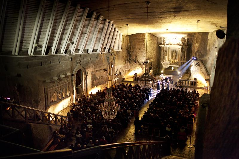 Concert in Wieliczka Salt Mine during Misteria Paschalia