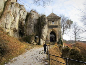 Gate to the castle in Ojcow, Eagles' Nest Trail Poland