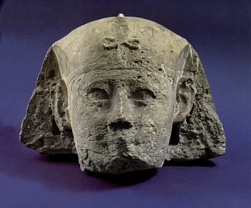 Head from the sculpture of a Sphinx, 2nd century BC