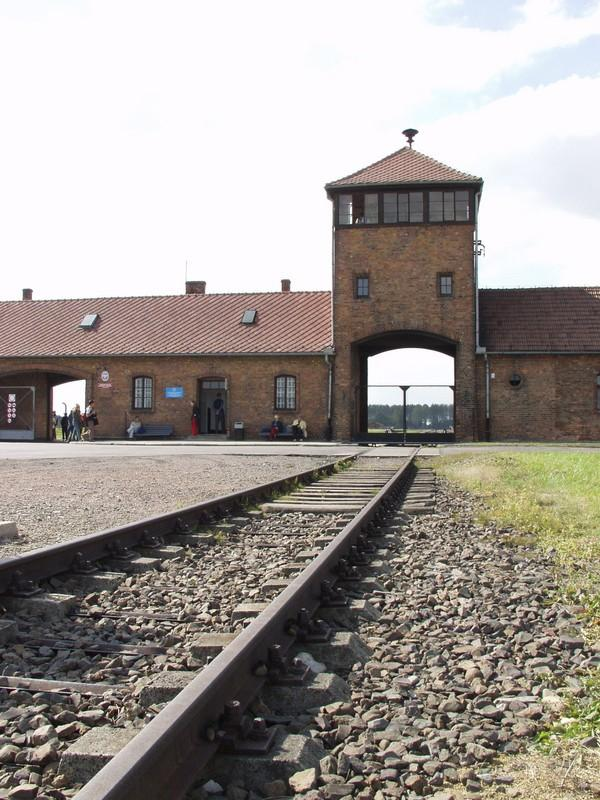 Ramp in Auschwitz concentration camp