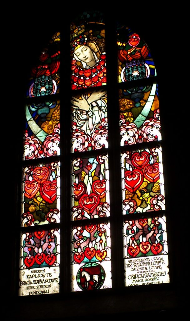 Stained-glass window in the Szafraniec Chapel by Jozef Mehoffer (1908)