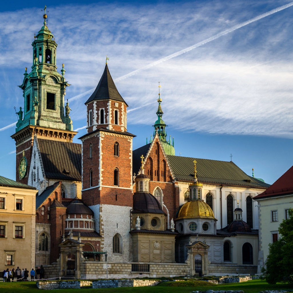 Wawel Cathedral, on the right Sigismund's Chapel with a golden dome