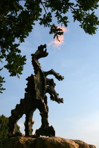 Wawel Dragon statue depicts one of the interesting Wawel Castle facts - the legendary Dragon that lived in a cave under the hill