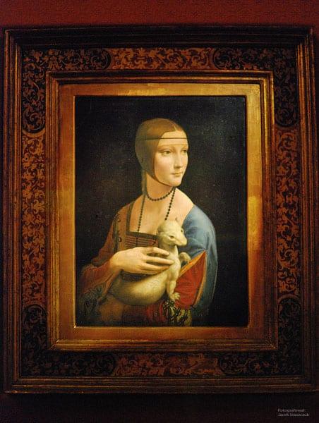 Lady with an Ermine in Czartoryski Museum in Krakow