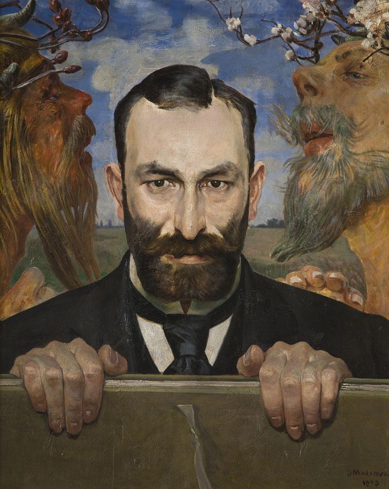 Feliks Jasienski, Portrait by Jacek Malczewski, 1903; National Museum in Krakow