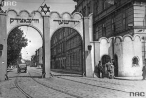 Gate to the Jewish ghetto in Krakow