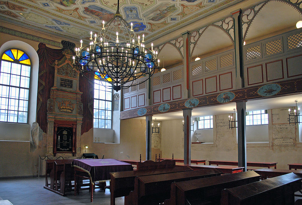 Interior of the Kupa Synagogue, now the main meeting place for Jews in the Jewish Quarter