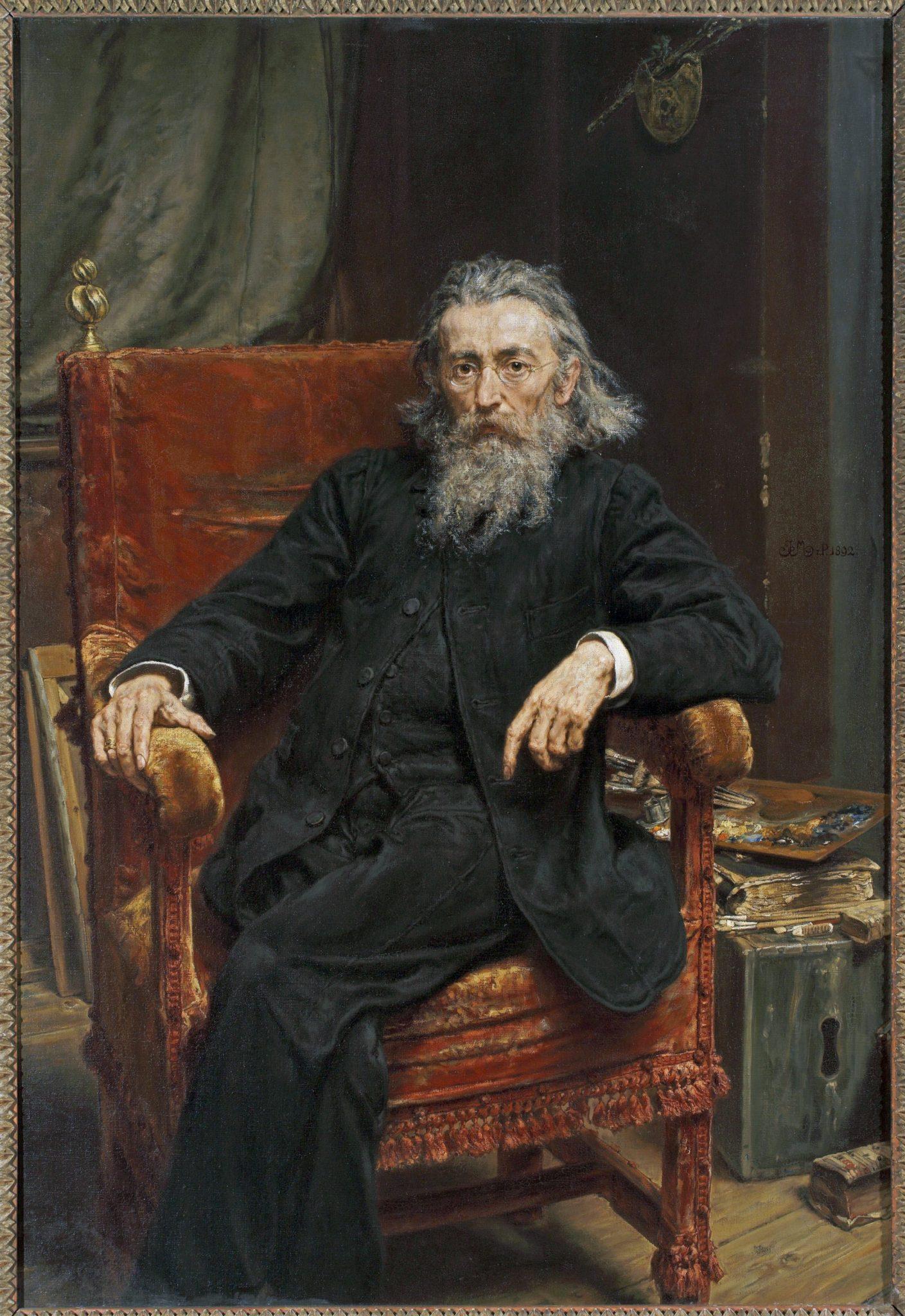Jan Matejko, Self-portrait, 1892