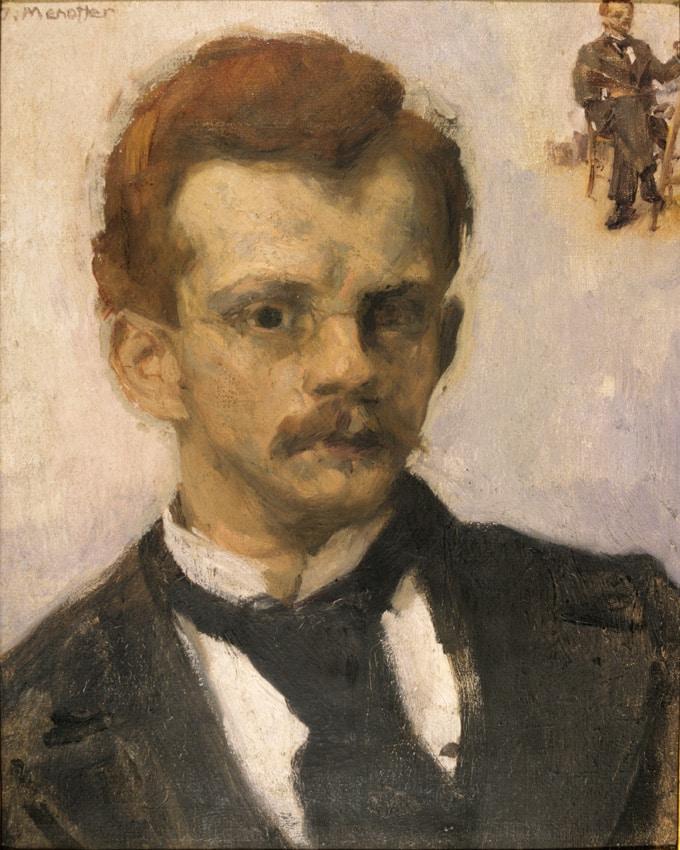 Jozef Mehoffer, Self-portrait, circa 1898; National Museum in Krakow