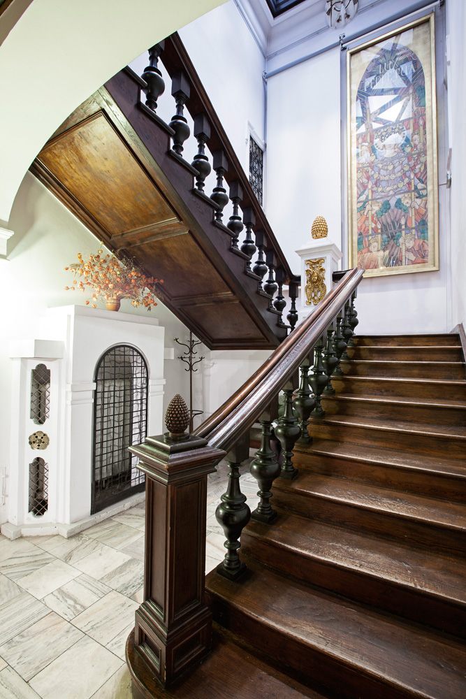 Staircase in the Jozef Mehoffer House