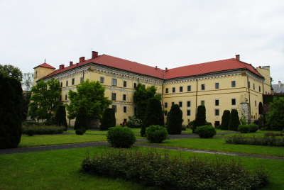 Main building of the Archaeological Museum of Krakow, view from the gardens