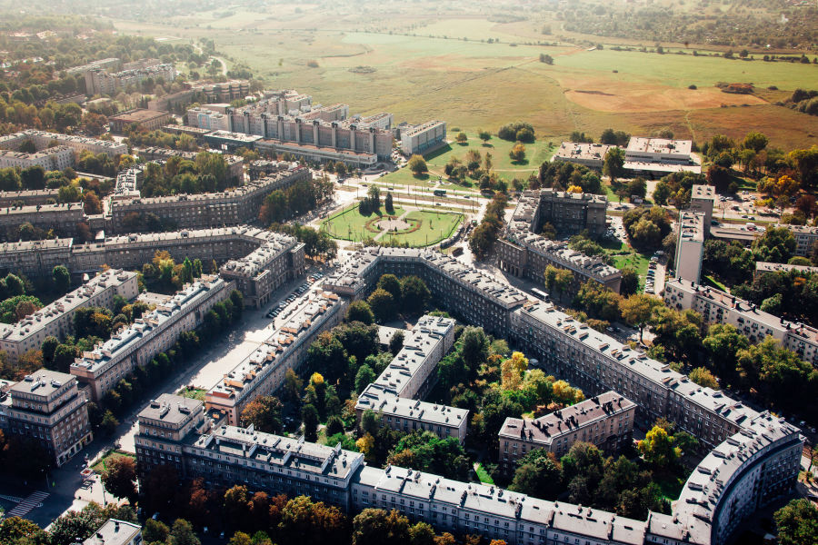 Nowa Huta, aerial view