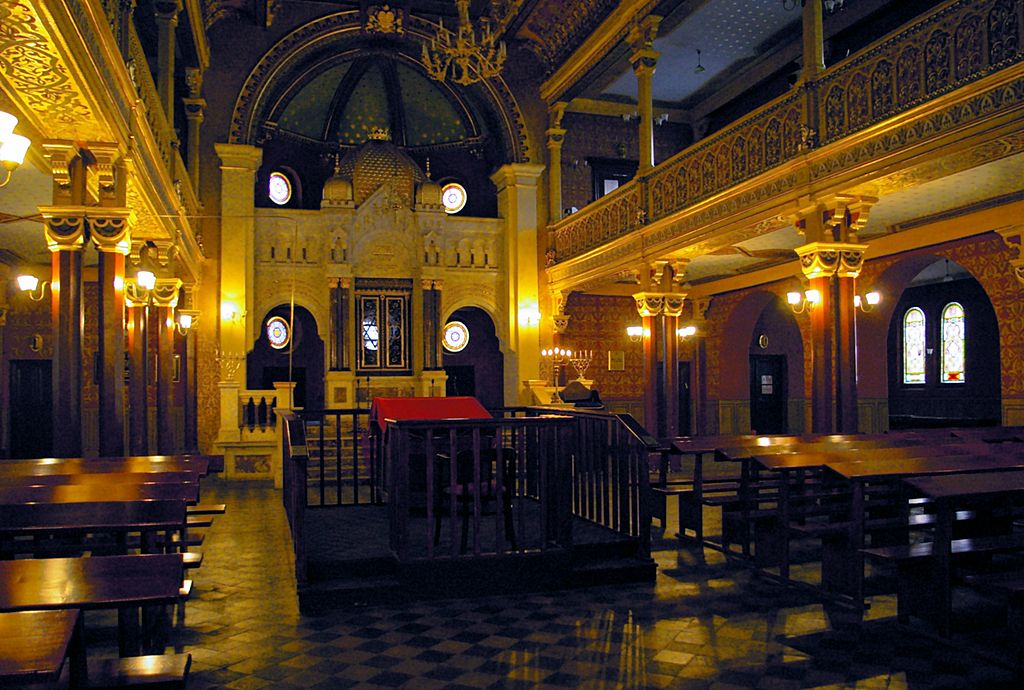 Inside of the Tempel Synagogue, the main venue for Reform Jews in Kazimierz