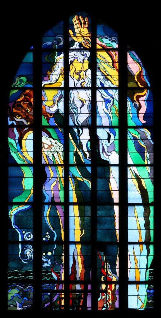 Wyspianski's masterpiece, stained glass window in Franciscan Church in Krakow
