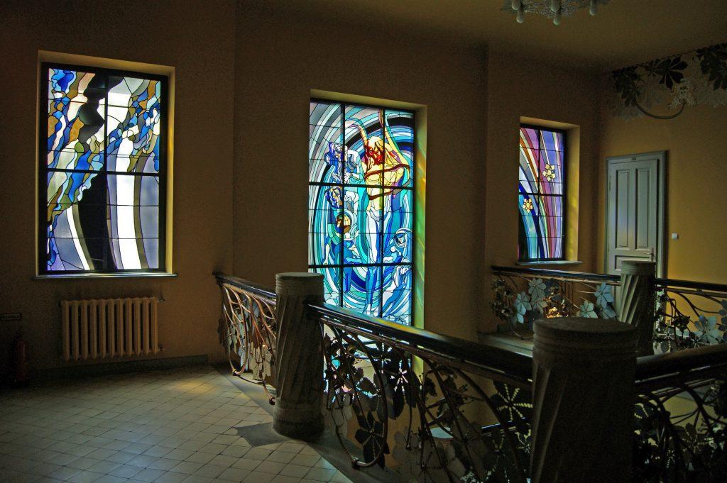"""Wyspianski stained glass """"Apollo"""""""