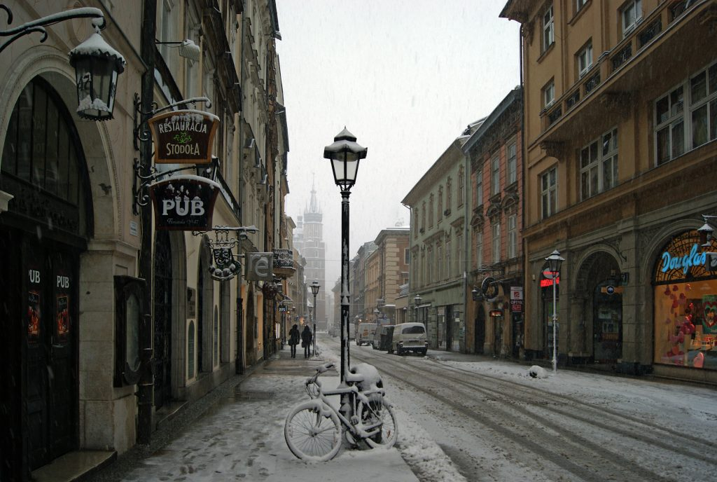 Florianska Street, St. Mary's Basilica in the background