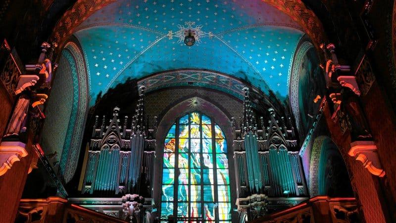 Wyspianski stained glass window, Franciscan Church in Krakow
