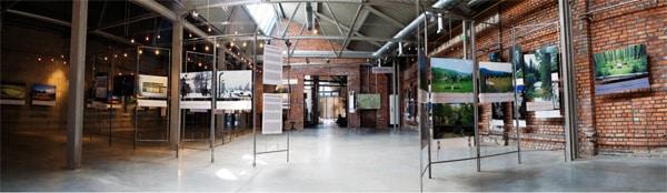 Main exhibition hall in Galicia Jewish Museum