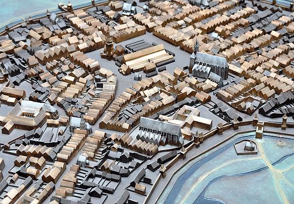 Model of the Krakow Old Town, Rynek Underground, branch of the Historical Museum of Krakow