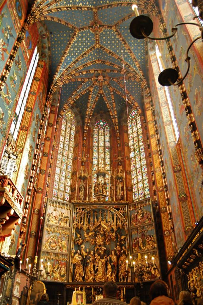 Presbytery with the altarpiece by Veit Stoss, St. Mary's Basilica Krakow