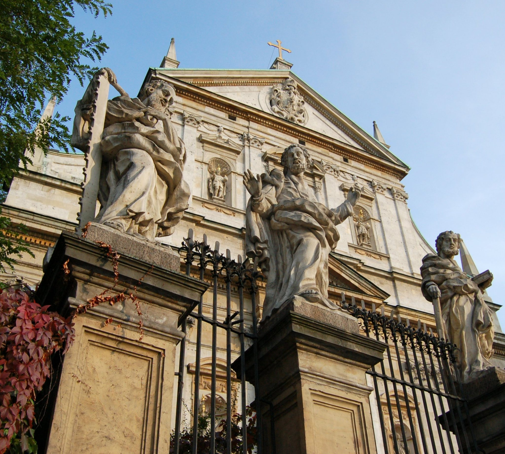 Apostoles on the fence of The Church of Saints Peter and Paul