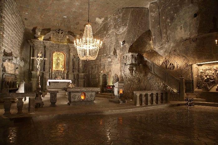 Underground chapel in Wieliczka Salt Mine