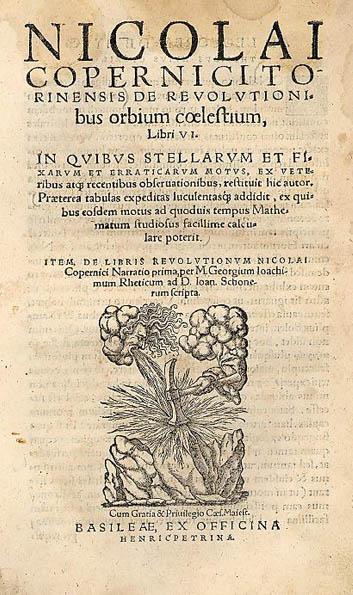 Copernicus' De revolutionibus orbium coelestium at the Jagiellonian Library