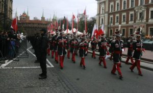 National Independence Day celebrated in Krakow with historical reconstruction of Polish soldiers, who fought for independence