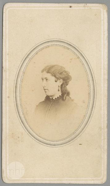 1870s portrait of a young woman by Walery Rzewuski, Museum of History of Photography in Krakow