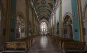 Interior of the Basilica in the Cistercian Abbey in Mogila