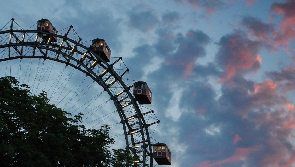 Prater ferris wheel in vienna