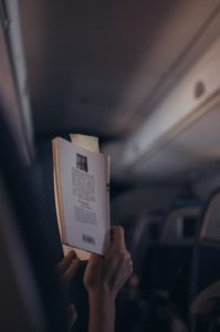 reading book flight