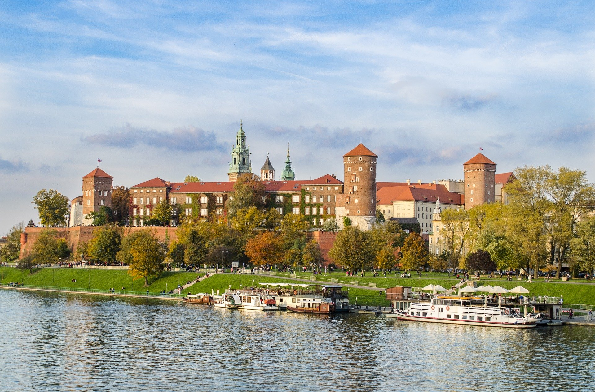 Krakow castle panorama